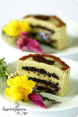 Matcha Green Tea Mascarpone n Dark chocolate Cake