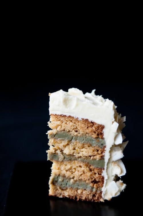 Matcha-Coconut Cake (gluten-free)