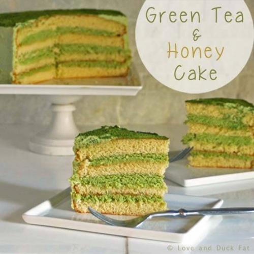 Green Tea & Honey Sponge Cake Recipe